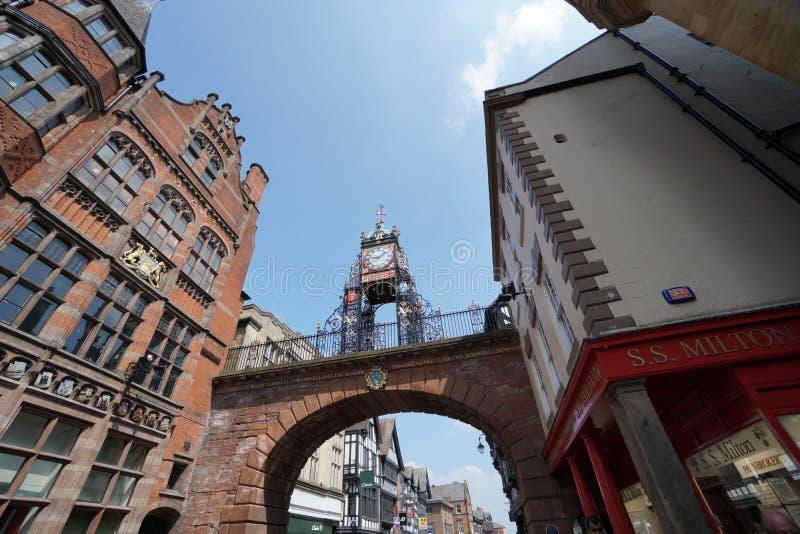 Eastgate y reloj de Eastgate, Chester imágenes de archivo libres de regalías