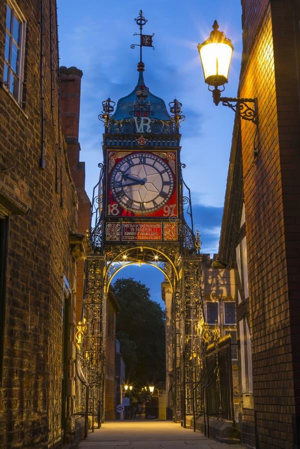 Eastgateklok in Chester royalty-vrije stock foto's
