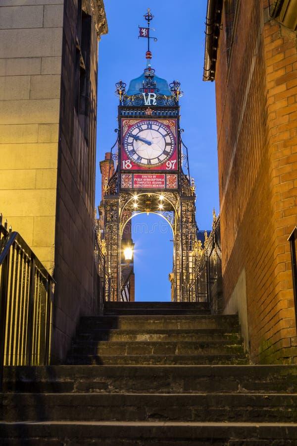 Eastgateklok in Chester stock afbeelding