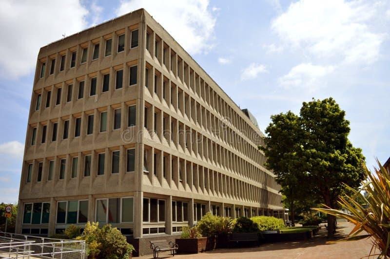 Easthampstead House, Bracknell, UK. BRACKNELL, UK - JUNE 18 2015: Easthampstead House, Home of Bracknell Town Council in Town Square, Bracknell stock image