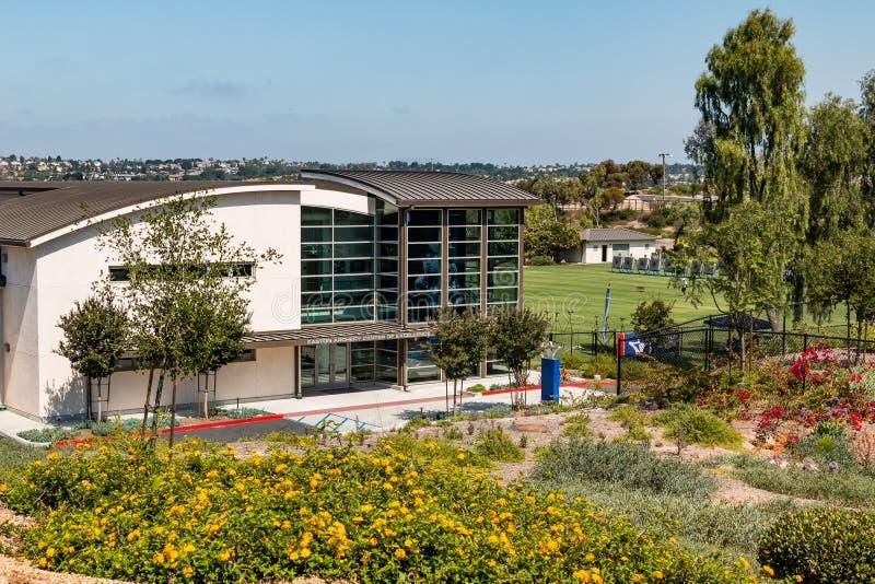 Easton Archery Center para el edificio de la excelencia para el atleta de élite Training imágenes de archivo libres de regalías