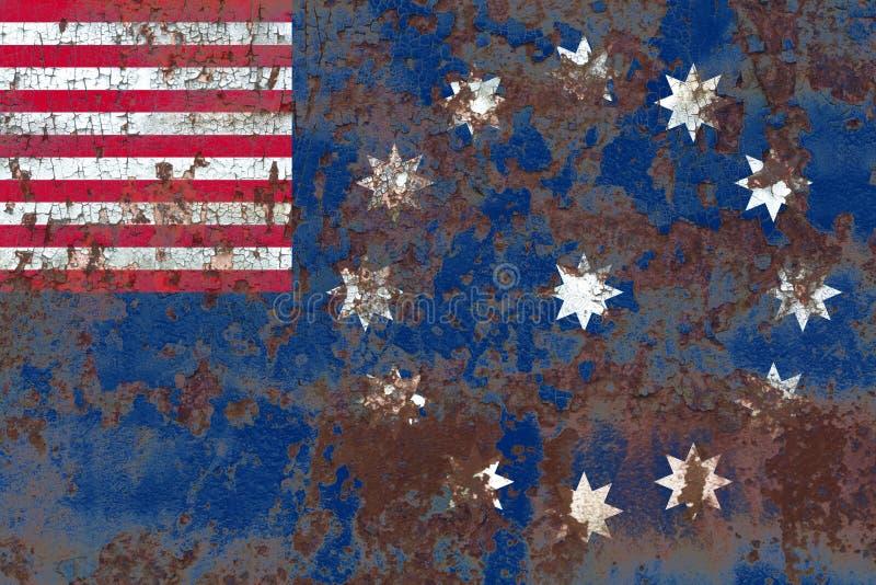 Easton city smoke flag, Pennsylvania State, United States Of America.  royalty free stock photo