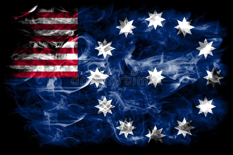 Easton city smoke flag, Pennsylvania State, United States Of America.  royalty free stock images