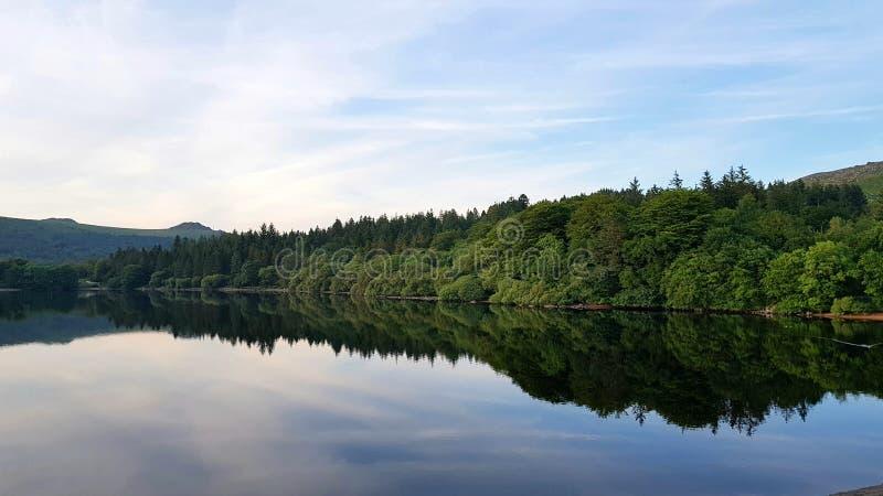 Eastside резервуара burrator, Dartmoor, Девона Великобритании стоковые изображения rf