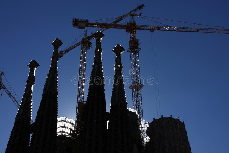 Shadow of Sagrada Familia stock image