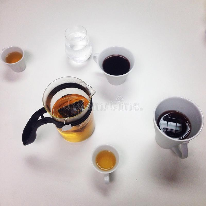 Easy afternoon with the tea royalty free stock photo