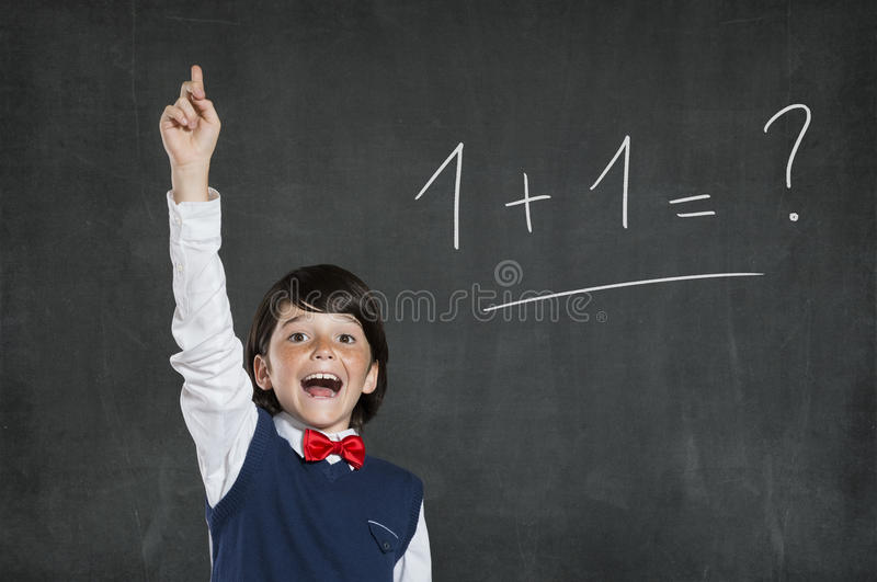 Easy answer royalty free stock image