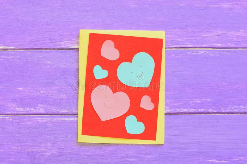 Valentines day or mothers day paper card with pink and blue hearts download valentines day or mothers day paper card with pink and blue hearts greeting card m4hsunfo