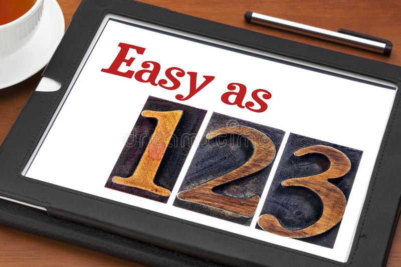 Easy as 1, 2, 3 concept royalty free stock images