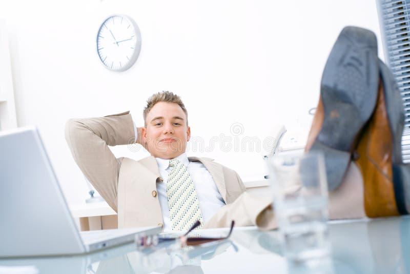Easy businessman royalty free stock photo