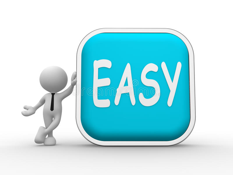 Easy button royalty free illustration