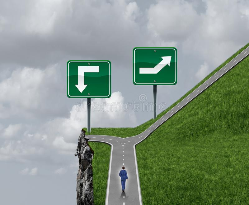 Easy Choice business and life path concept royalty free illustration