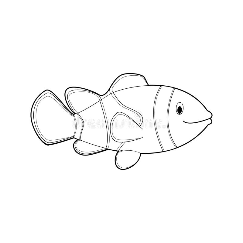 Easy Coloring Animals For Kids: Clownfish Stock Vector - Illustration Of  Happy, Animal: 121303124