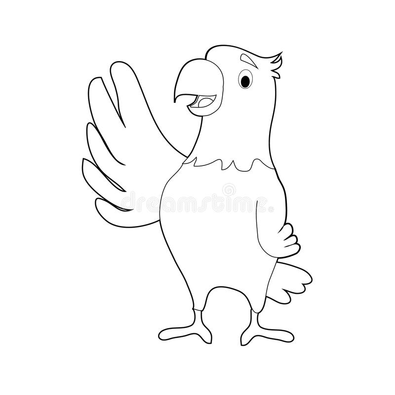 Easy Coloring Animals For Kids: Eagle Stock Vector - Illustration of ...