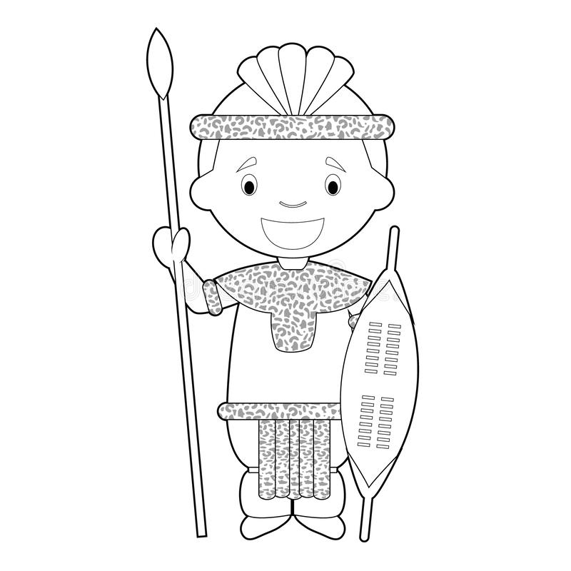zulu dancer coloring pages - photo#2