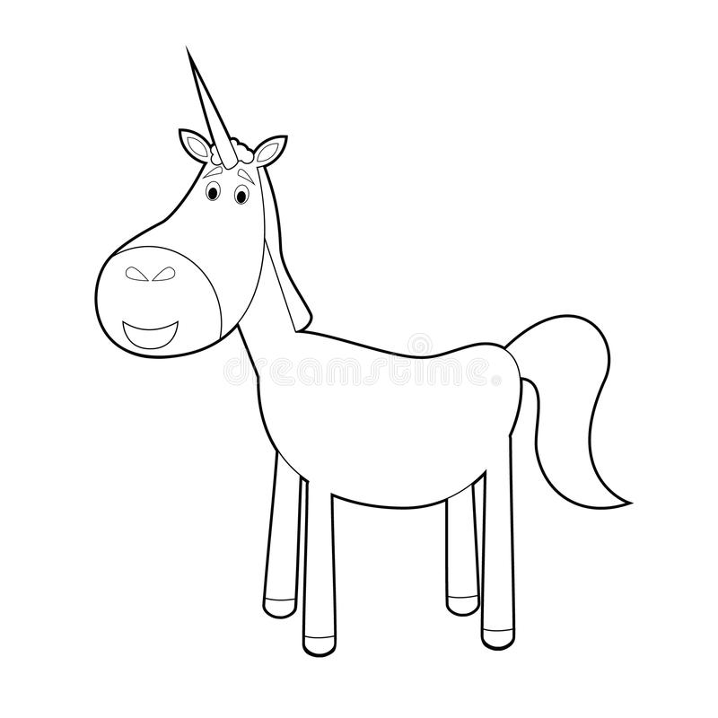 Download Easy Coloring Animals For Kids Unicorn Stock Illustration