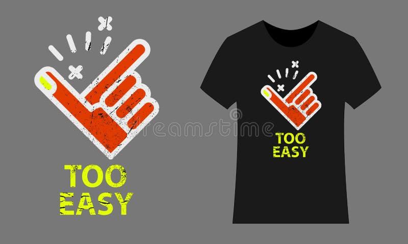 Easy icon stylish t-shirt, vector illustration royalty free illustration
