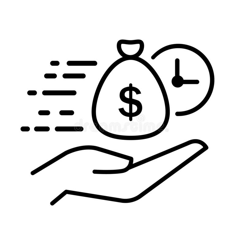 Free Easy Instant Credit, Loan Payment, Fast Money Icon, Finance Thin Line Symbol For Web And Mobile Phone On White Background Royalty Free Stock Image - 170274466