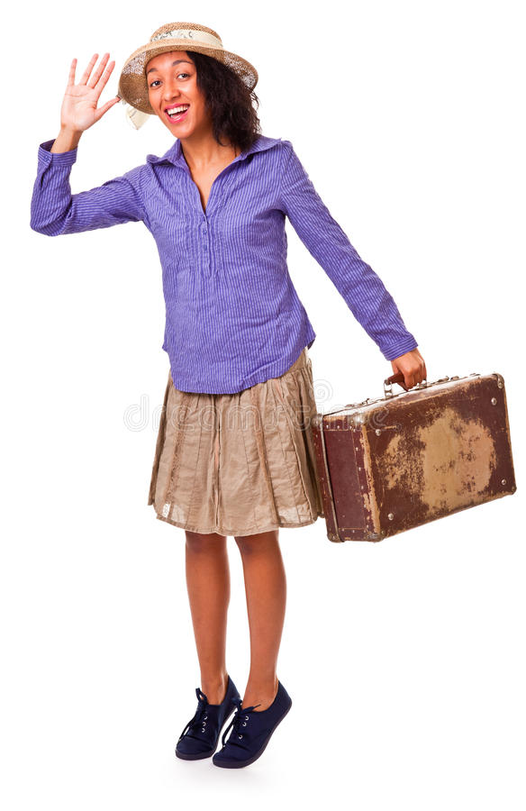 Download Easy Latin American Girl Travels. Retro. Stock Images - Image: 23292944