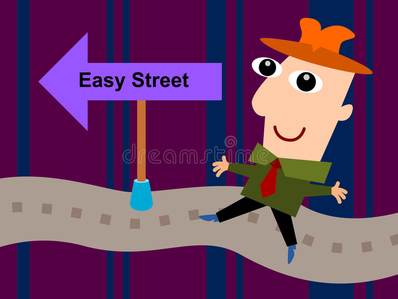 On easy street stock illustration