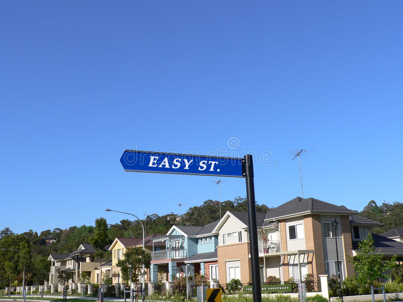 Easy Street Sign stock photography