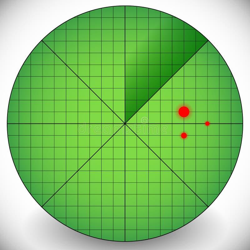 Easy to Edit Radar Screen Template - Radar With Targets. royalty free illustration