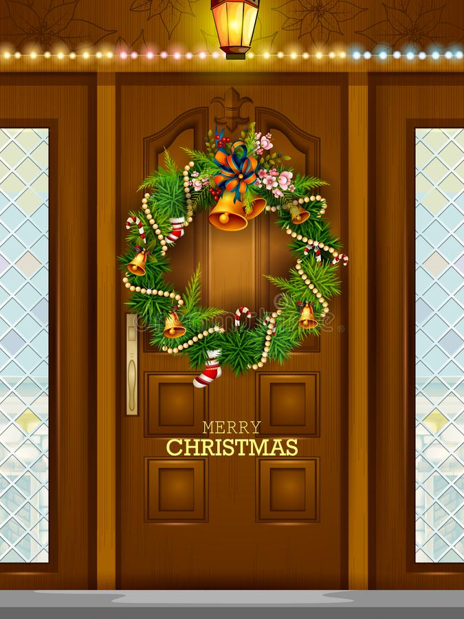 Decoration for Happy New Year and Merry Christmas greeting vector illustration