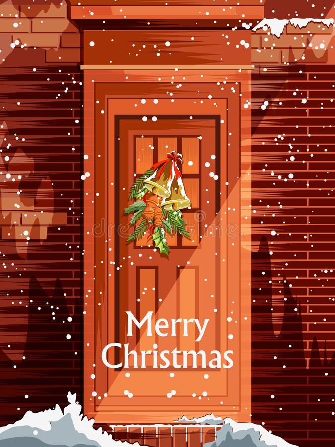 Decoration for Happy New Year and Merry Christmas greeting royalty free illustration