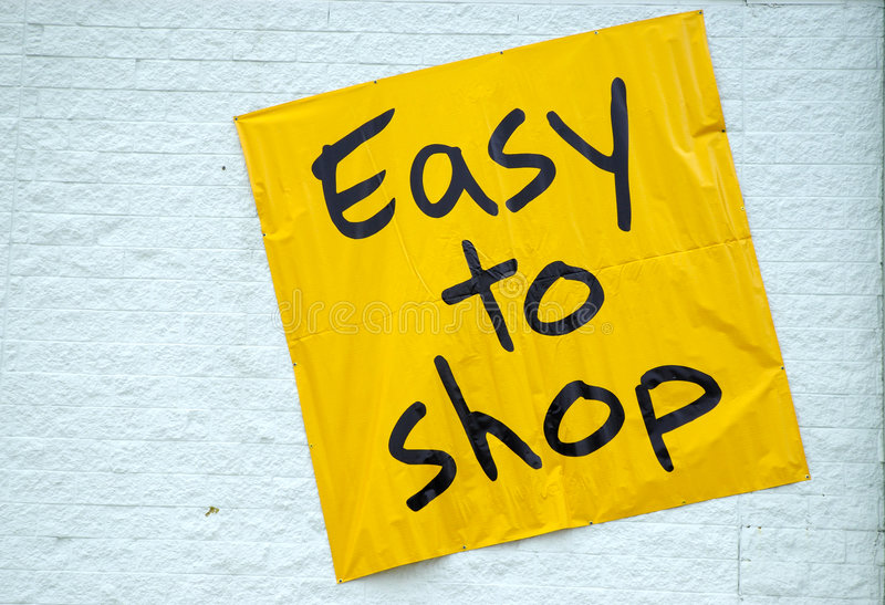 Easy To Shop stock images
