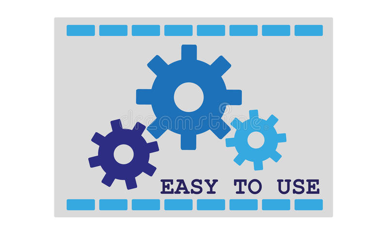 Easy to use icon. Vector color illustration icon easy to use royalty free illustration