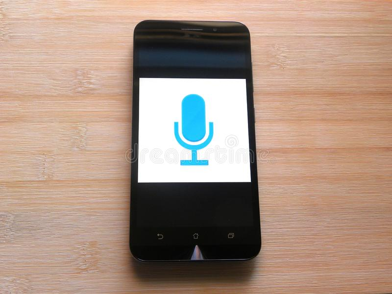 Easy Voice Recorder app stock image