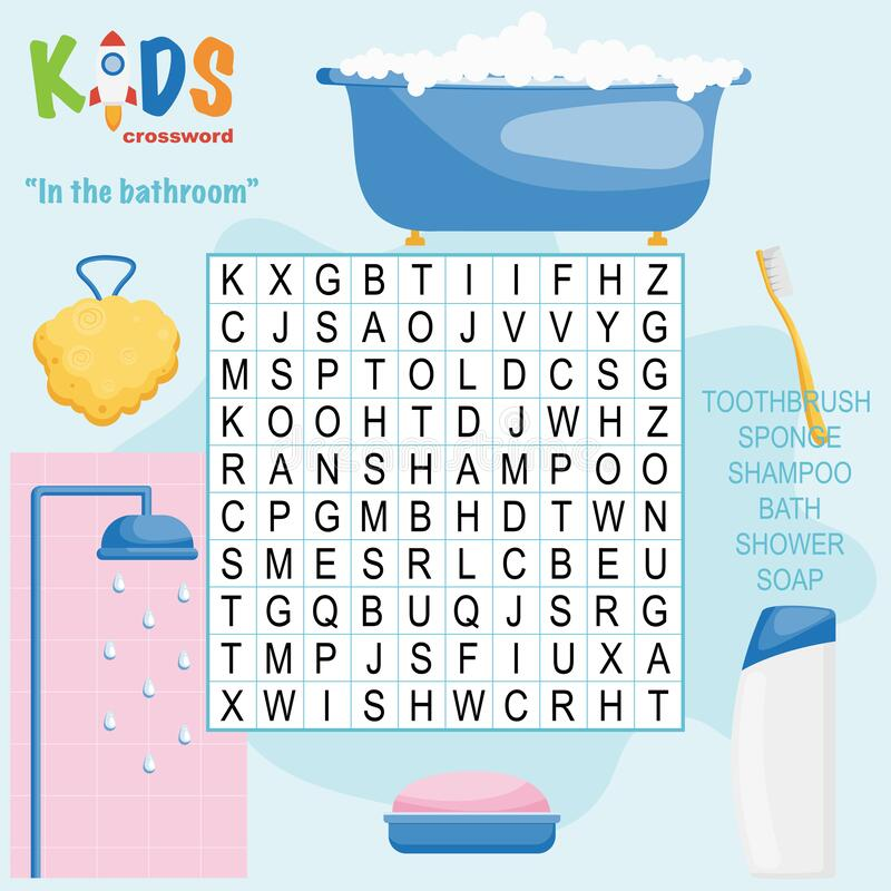 Easy Word Search Crossword Puzzle `Thanksgiving Day` Stock ...