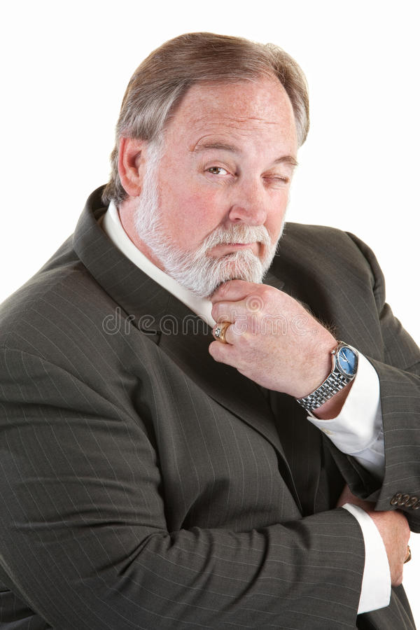 Easygoing man with beard stock photo