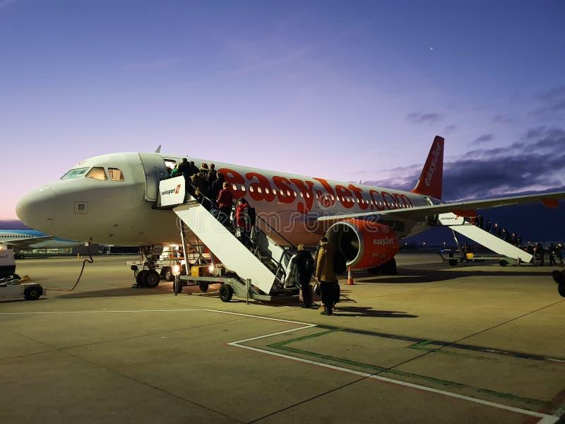 Easyjet A320 royalty-vrije stock fotografie