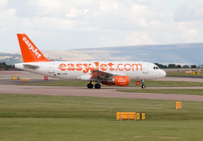 Easyjet Airbus A319 imagenes de archivo