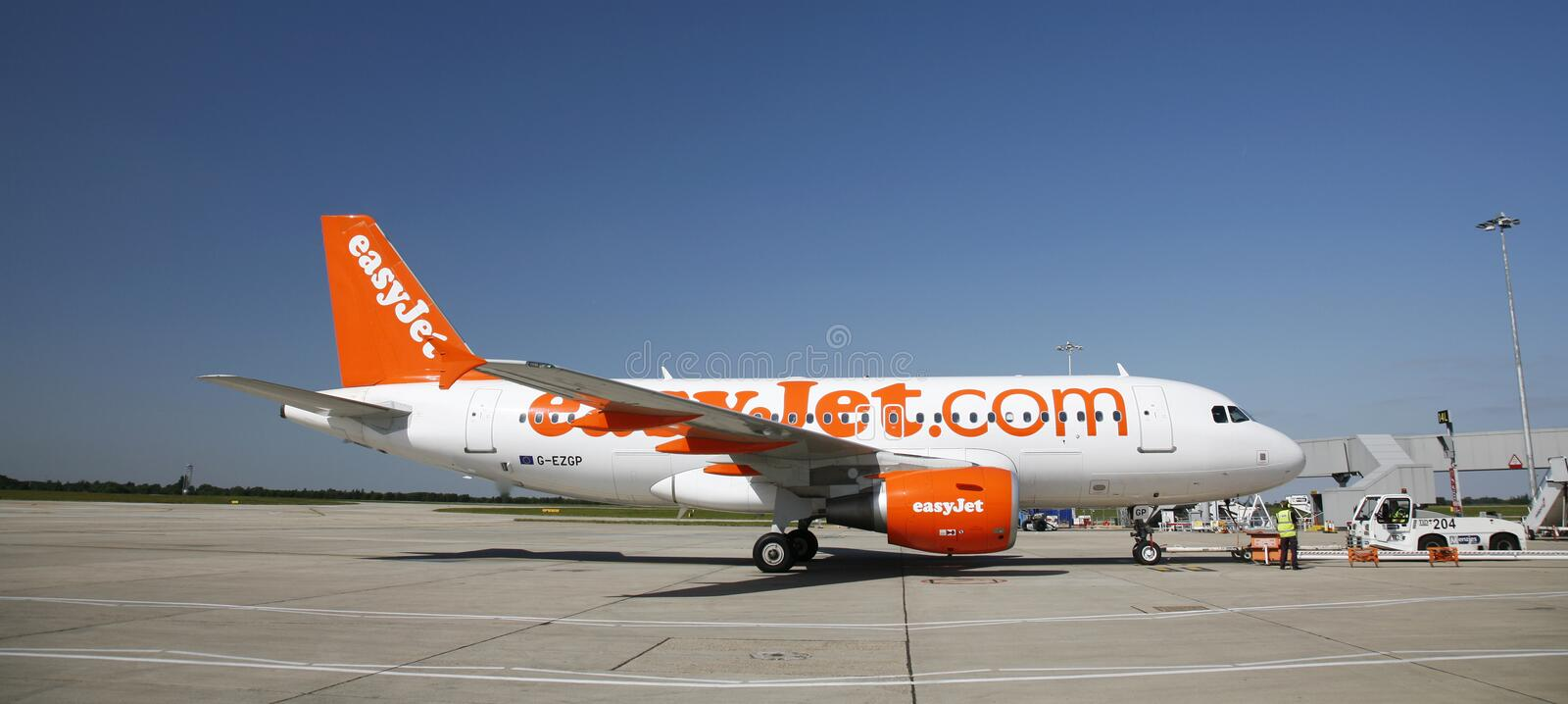 EasyJet Airbus A319 photographie stock
