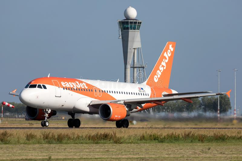 EasyJet l'Europe Airbus A319-100 photo stock