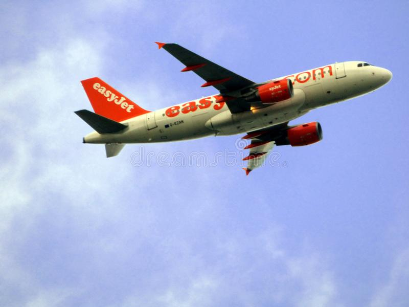 EasyJet plane royalty free stock photography
