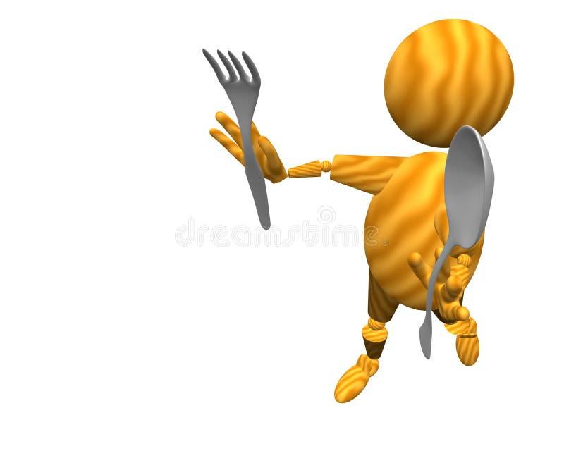 Download Eat stock illustration. Illustration of eater, food, cook - 12595293