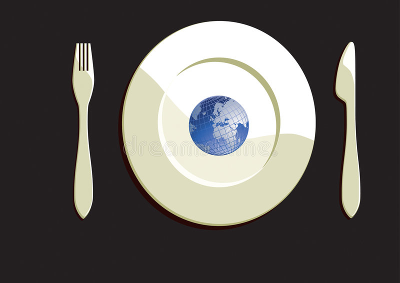 Download Eat The Earth stock illustration. Image of waste, environment - 9175978