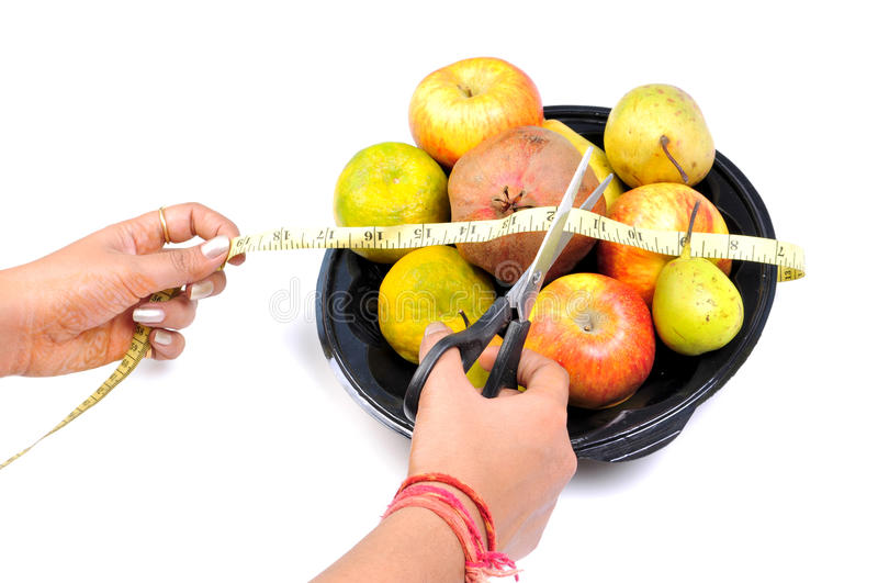 Eat Fruits To Cut Weight Stock Image