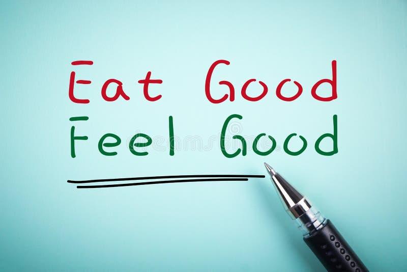 Eat good Feel good royalty free stock image