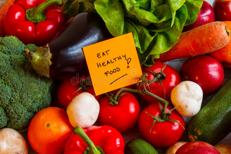 Eat healthy Food stock images