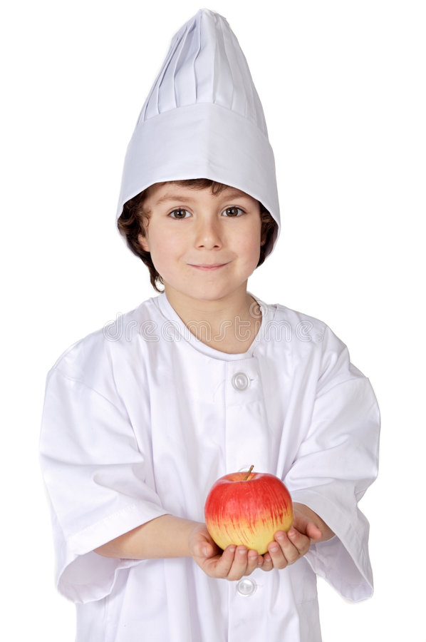 Eat healthy like this kid does stock photo