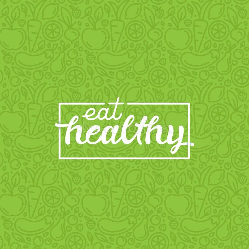 Eat healthy royalty free illustration