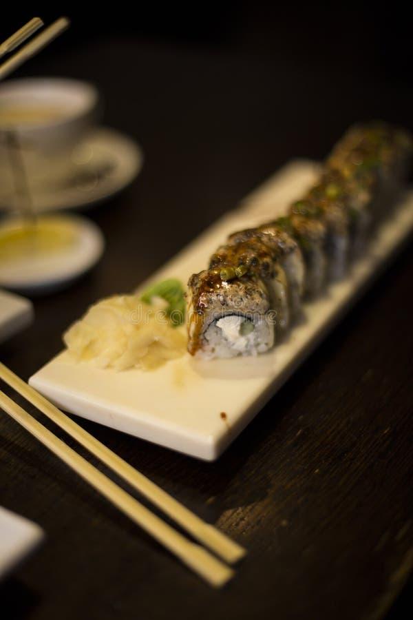 Eat/herbaty, kawiarni, restauraci, suszi, jedzenia/karmowego, Japońskiego/ fotografia stock