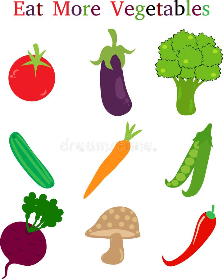 Eat More Vegetables vector illustration