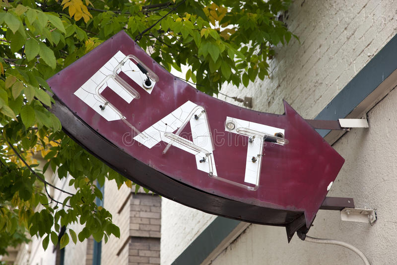 Download Eat Sign stock image. Image of faded, building, nostalgic - 26923409