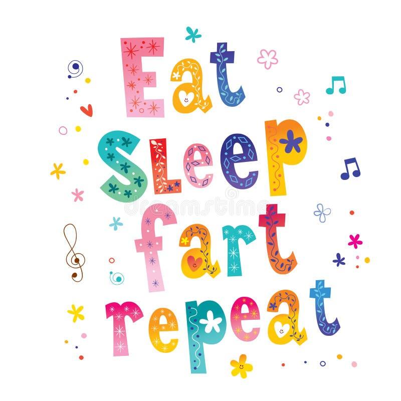 Eat sleep repeat stock illustration