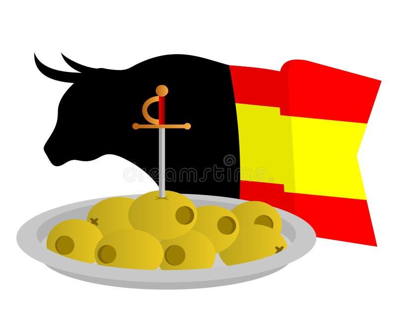 Download Eat spanish stock vector. Illustration of horns, stock - 18959036